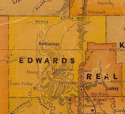 edwards county texas map carta valley texas