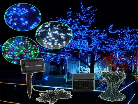 led solar outdoor tree lights led string lights outdoor solar led lights