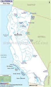 map of rivers in california california river map maps mostly in