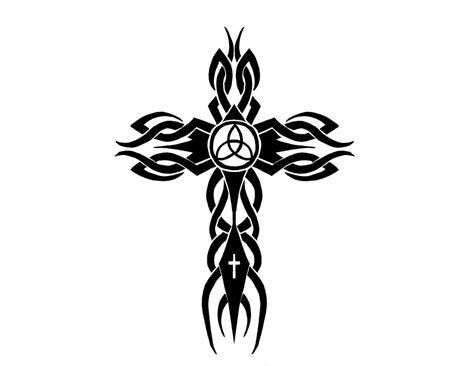 cross with tribal tattoo tribal cross by cortexcreative on deviantart