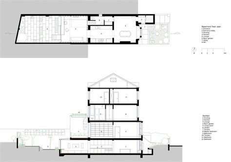 section of plan unit2 16 berwick street section drawing floor plan