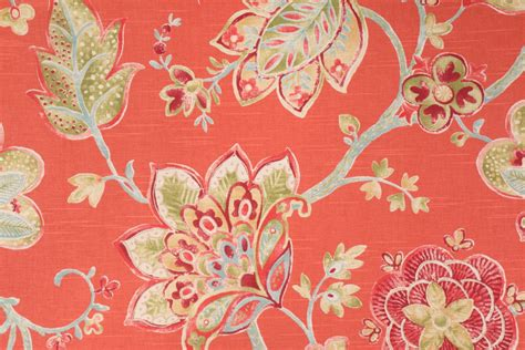 floral drapery fabric 3 yards richloom jubilant floral printed cotton drapery