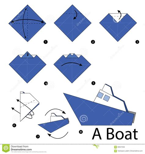 How To Make Paper Boats Step By Step That Float - step by step how to make origami a boat