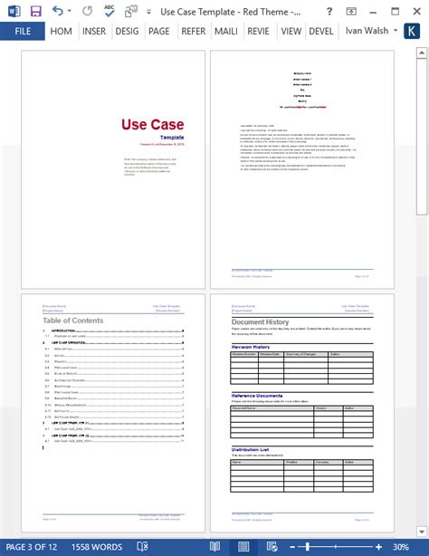 use case template ms word visio templates