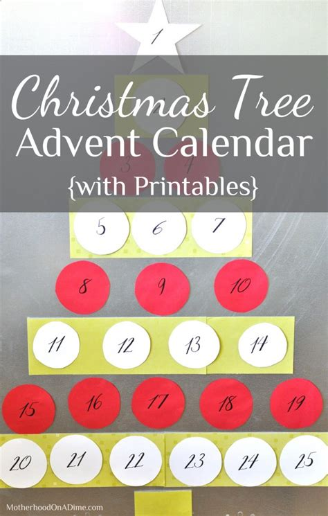printable advent calendar christmas tree christmas tree advent calendar with printables kids