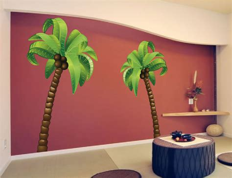 tree shop wall palm tree wall mural decal large wall decal murals