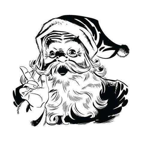 imagenes de santa claus en blanco y negro blanco y negro de santa claus descarga en vectorportal