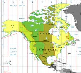 time zone map usa and canada canadian time zones