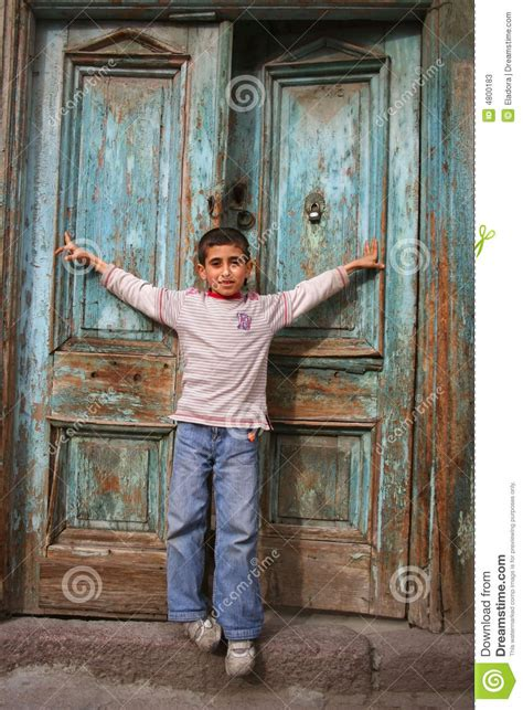 The And His Door by Happy Boy Opening His Arms Stock Photos Image 4800183