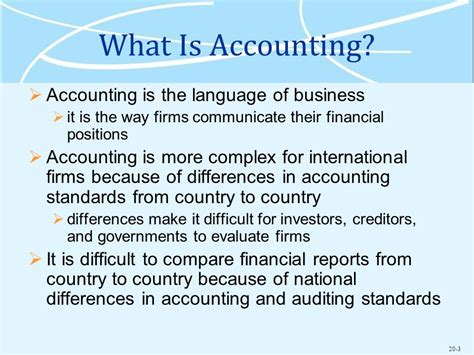 How To Finance An International Mba by Accounting And Finance In The International Business Ppt