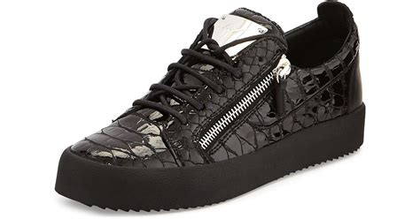 giuseppe sneakers mens giuseppe zanotti mens low top sneaker in black for lyst