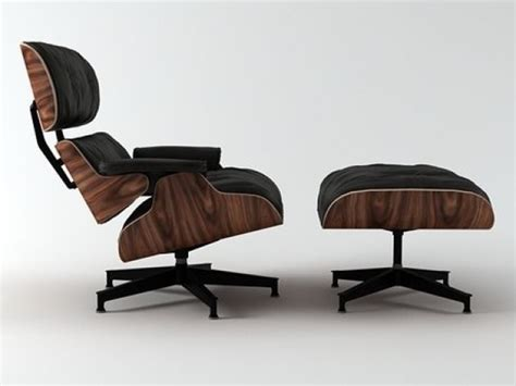 3d Printed Eames Lounge Chair Eames Lounge Chair And Ottoman 3d Model Vitra