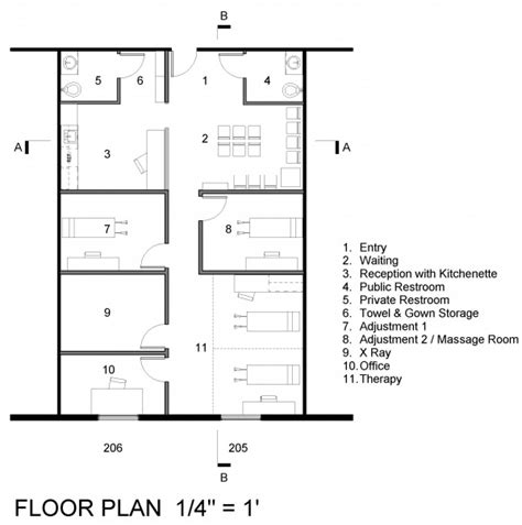 chiropractic office floor plan healthcare designed by nathan leber chiropractic office