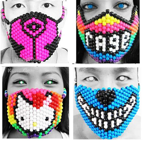 how to make a bead mask awesome kandi masks for sale festival fanatics