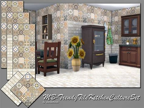 the sims 4 flooring set the sims resource trendy tile kitchen culture set by