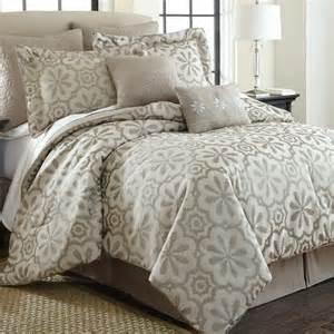 Beige Comforters Lindsey Beige Floral 8 Piece Jacquard Comforter Set