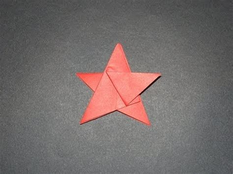 Five Pointed Origami - how to make an origami five pointed