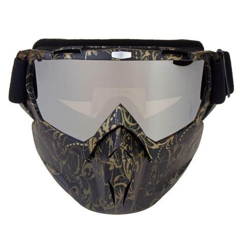 Sale Goggle Mask Gogle Mask Masker Putih Kaca Pelangi motorcycle goggles skiing skateboarding motocross detachable antifog helmet mask