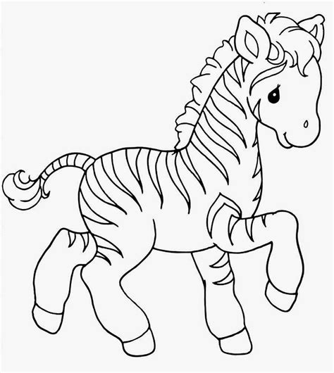 Baby Zebra Coloring Page | free animal baby zebra coloring pages