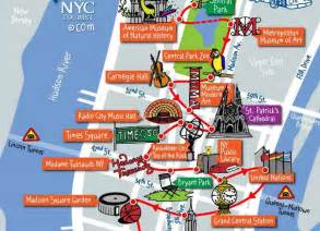 Map Of New York Attractions by Map Of New York Top Tourist Attractions