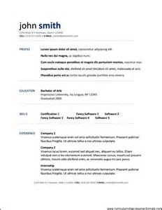 free resume template for openoffice free samples
