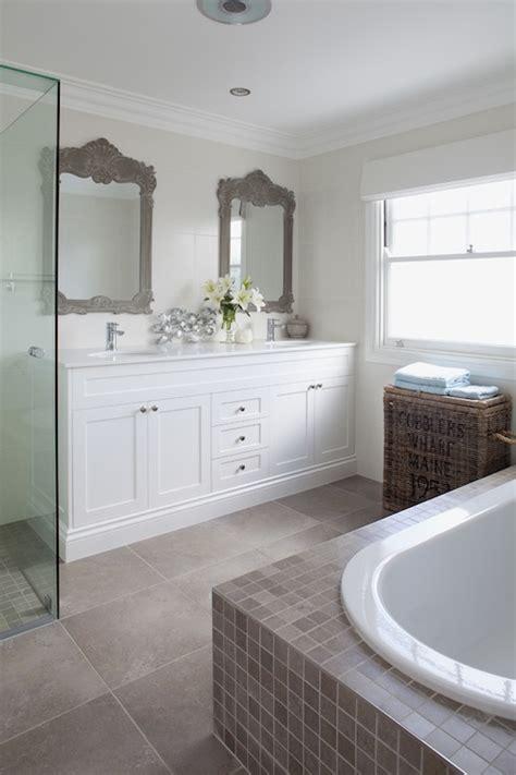 master bathroom mirrors white vanity cottage bathroom hickman design