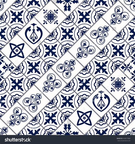 vector moroccan tile seamless pattern design stock vector