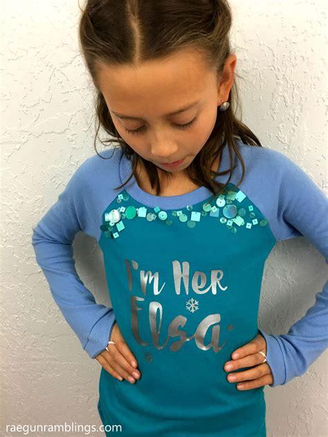Elsa Shirt diy elsa and shirts with cricut gun
