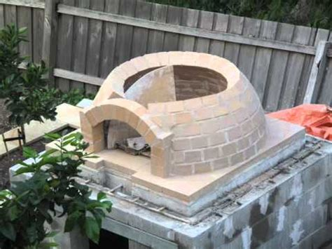 building a wood fired pizza oven youtube