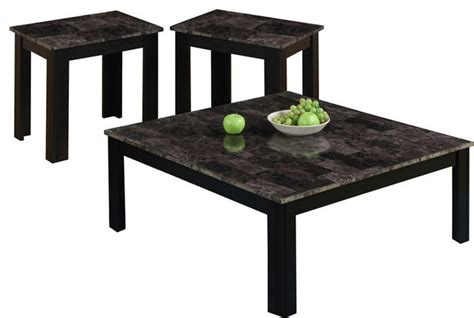 Grey Coffee Table Set by Table Set 3 Set Black Gray Marble Look Top