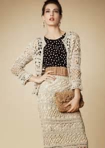 traje super elegante al crochet crochet y dos agujas