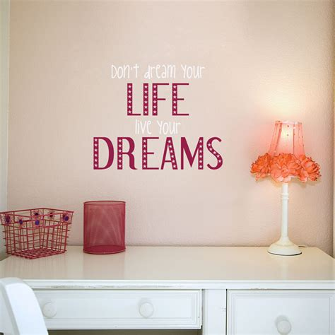 stickers on your wall live your dreams quotes wall decals stickers graphics