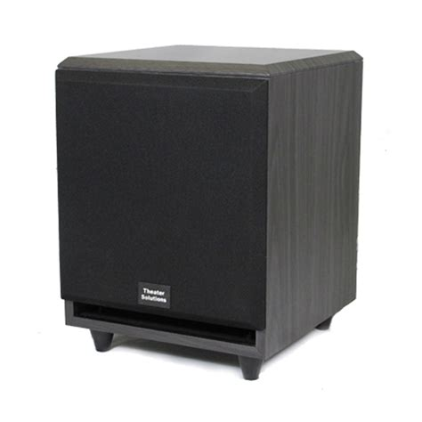 theater solutions subf black  surround sound home