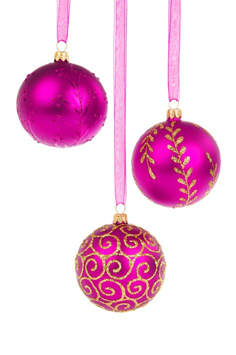 pink christmas baubles free stock photo public domain