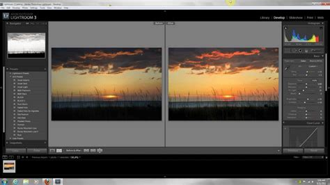 tutorial of lightroom 3 sunset editing lightroom 3 edit tutorial basic beginner
