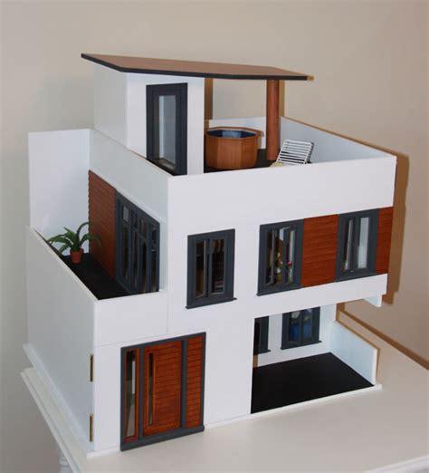 kerangka membuat rumah dari kardus miniatur rumah dari kardus referensi gambar desain properti