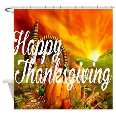 happy thanksgiving shower curtain by tartle