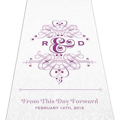 Wedding Aisle Runner Monogram by Fanciful Monogram Personalized Aisle Runner Weddingstar