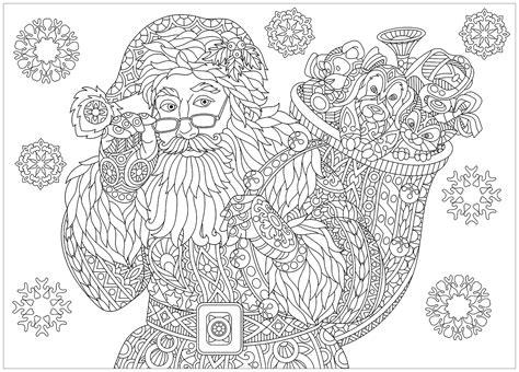 Coloriage Adulte Noel by Pere Noel Complexe 2 No 235 L Coloriages Difficiles Pour