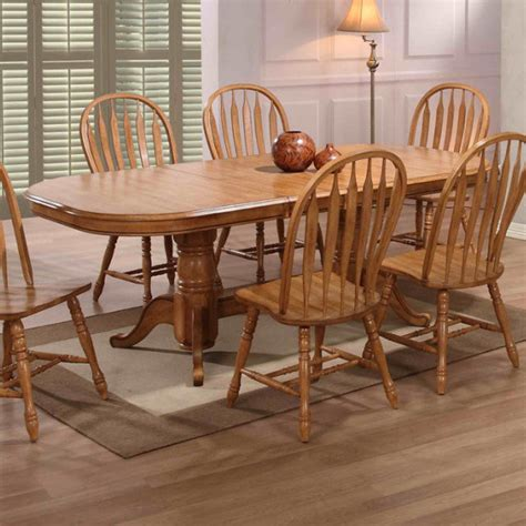 missouri rectangular pedestal dining table rustic