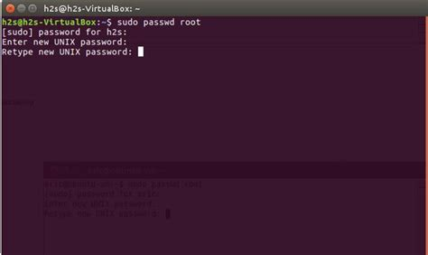 resetting ubuntu root password osboxes ubuntu root password