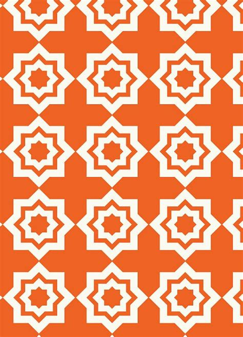 moroccan tile pattern geometric print pinterest orange geometric fabric muster pinterest moroccan