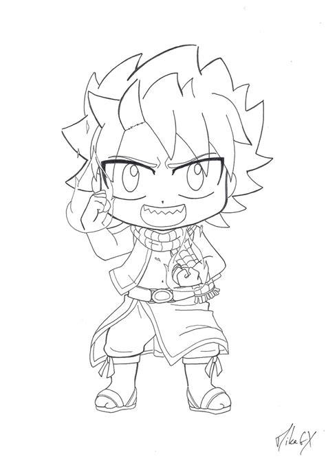 fairy tail coloring pages chibi chibi natsu dragneel v 1 by mikagx on deviantart