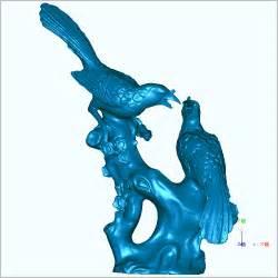 3d Stl Files Magpie Bird 3d Model Stl Carved Figure Sculpture 3d Model