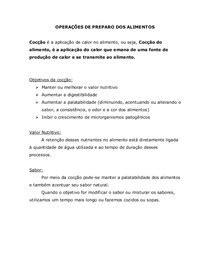 TD - TIPOS DE CALOR - Técnica Dietética
