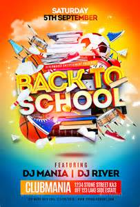 Back To School Flyer Template by 17 School Flyers Free Psd Ai Eps Format