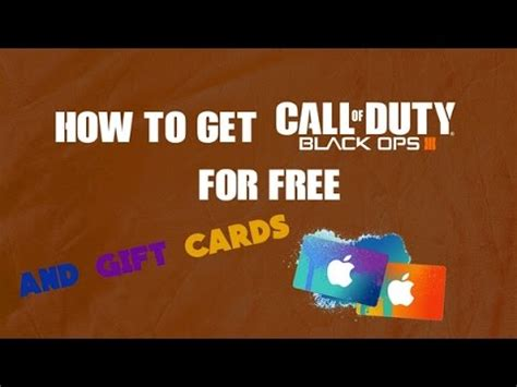 How To Get Free Xbox Gift Cards 2015 - how to get call of duty bo3 for free for ps4 xbox and gift cards youtube