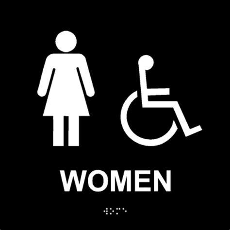 women s bathroom logo ada women s restroom sign