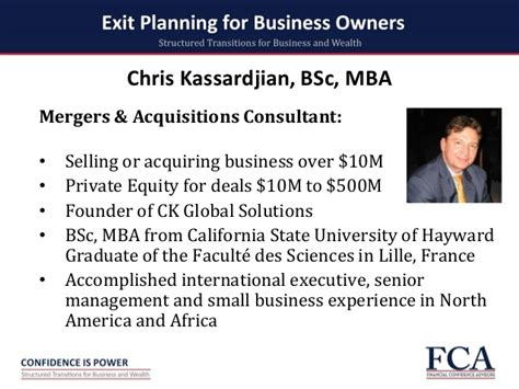 How Is Mba Finance Csus by Seven Step Exit Planning Process