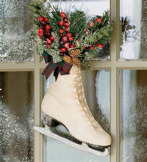 festive ice skate d 233 cor holiday greenery